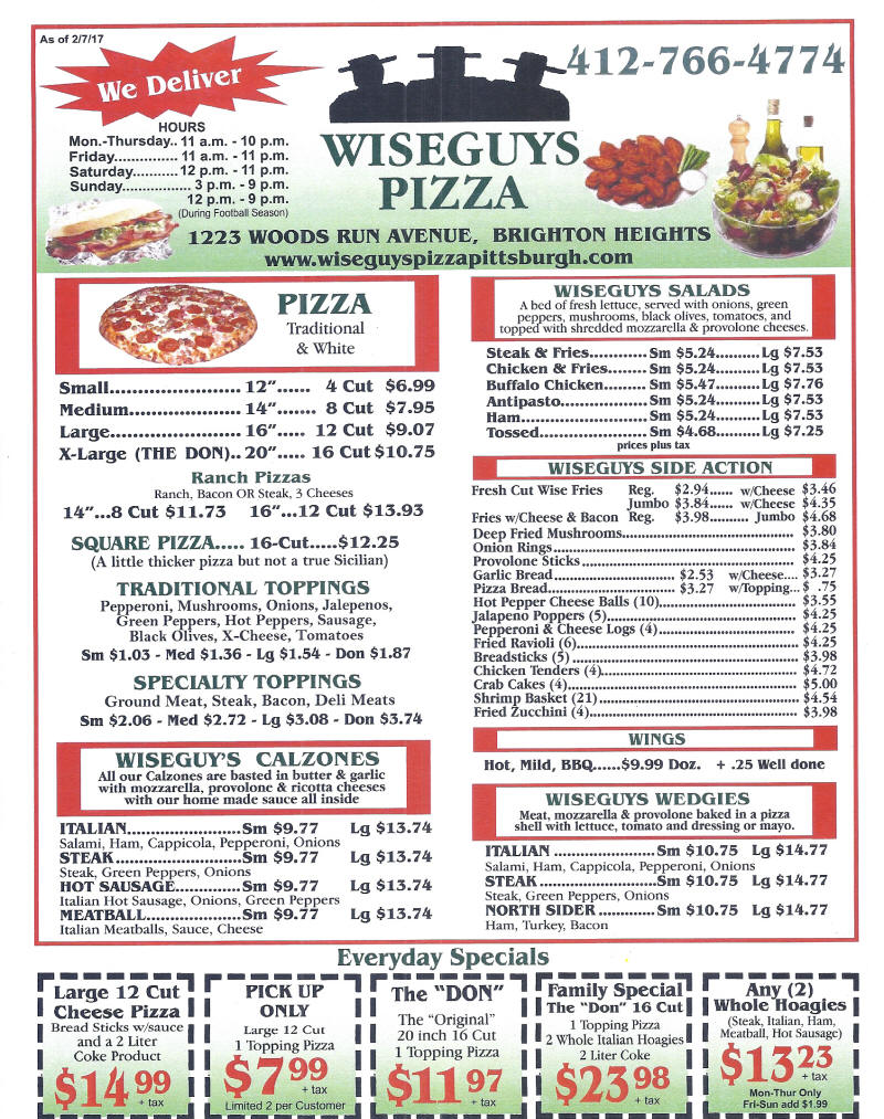 Wiseguys Pizza Pub